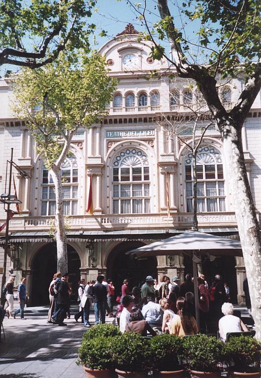 Das Gran Teatre del Liceu an der Rambla dels Caputxins