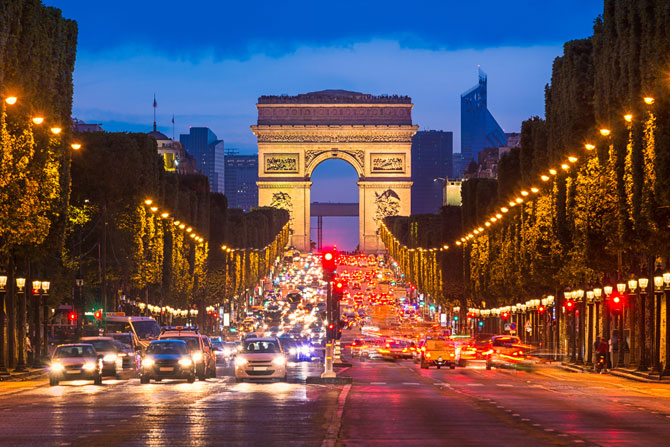 Champs Elysees & Arc de Triomphe
