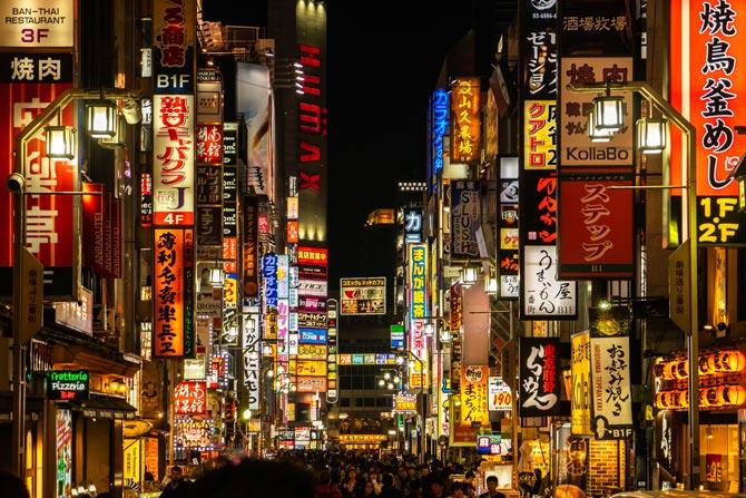 Japan Neonlights Tokio bei Nacht