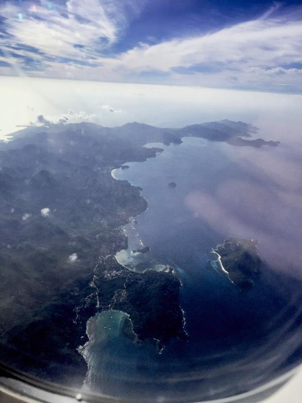 Landeanflug Seychellen