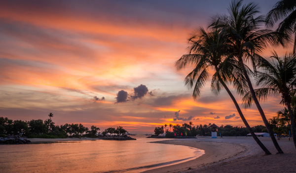 Sentosa-Island-Sunset-ajoure-travel