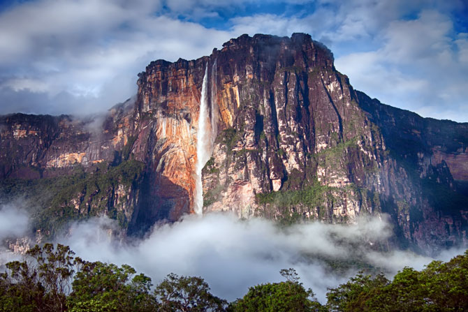 Angel Falls im Canaima Nationalpark in Venezuela