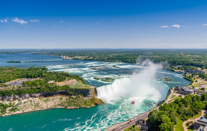 Niagarafälle in den USA und Kanada