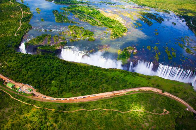 Victoria Falls zwischen Sambia und Simbabwe