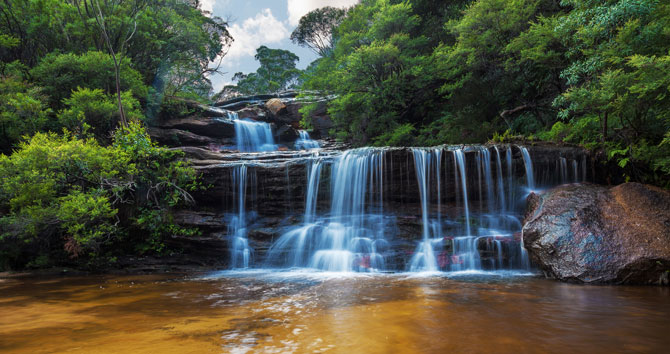 Wasserfälle im Blue Mountains Nationalpark in Sydney