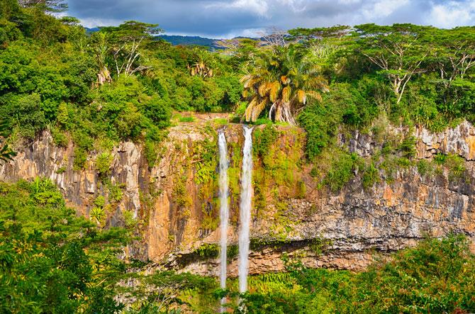 Zwillingswasserfälle von Chamarel auf Mauritius