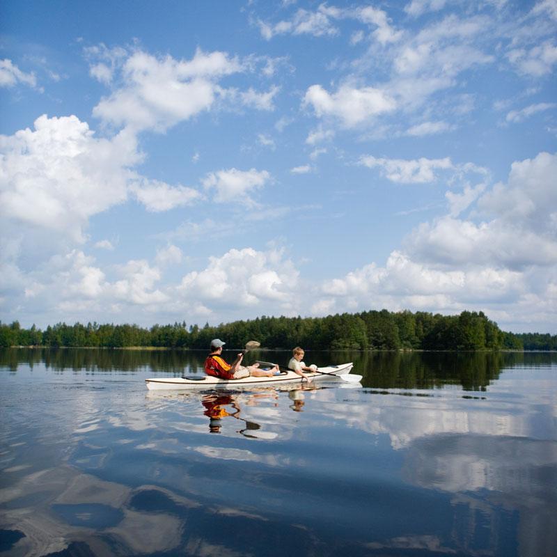 Kanu und Camping in Schweden
