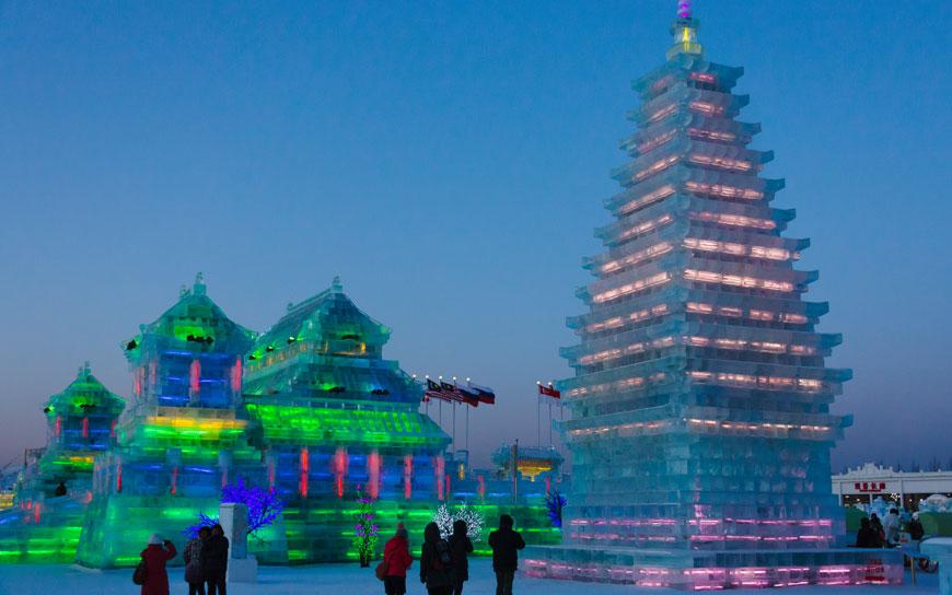 Eisskulpturenfestival in Harbin