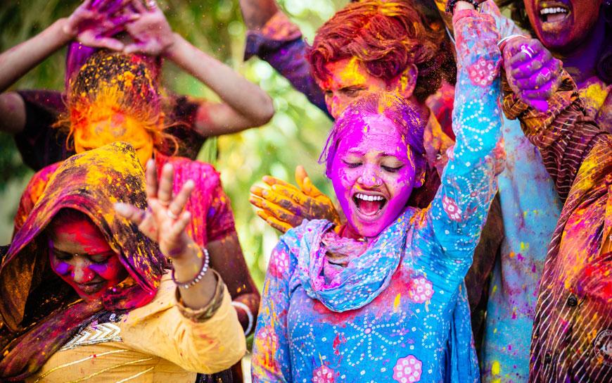 Das Fest der Farben: Holi-Festival