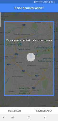 Google-Maps Offline-Karten