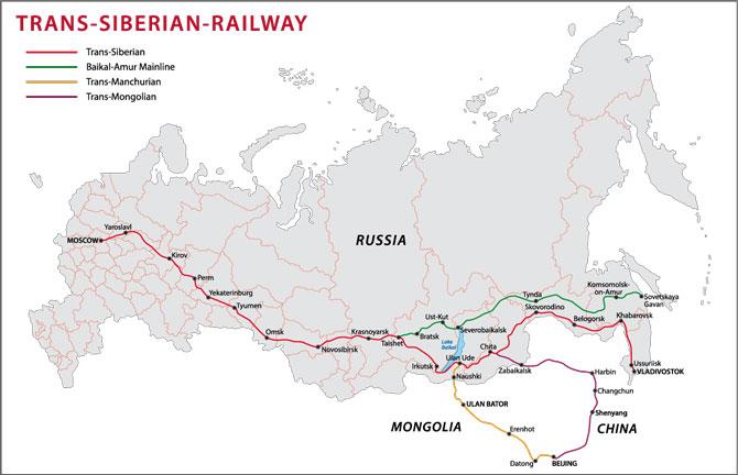 Route der Transsibirischen Eisenbahn