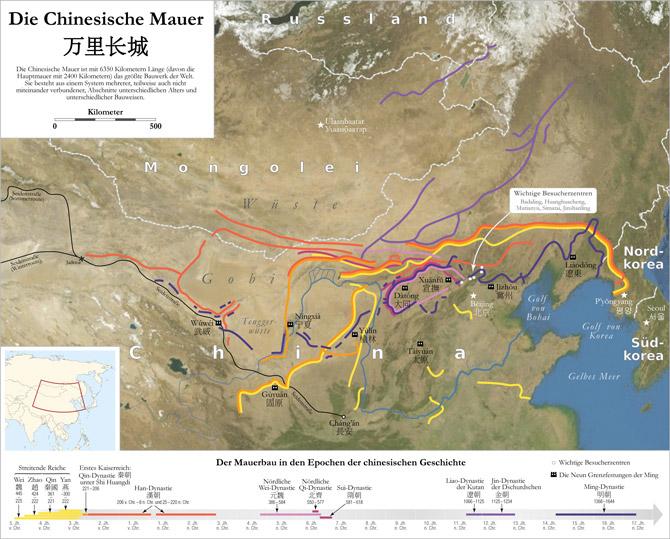 Die Chinesische Mauer Karte