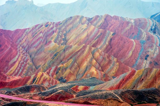 Zhangye Danxia Geopark in China