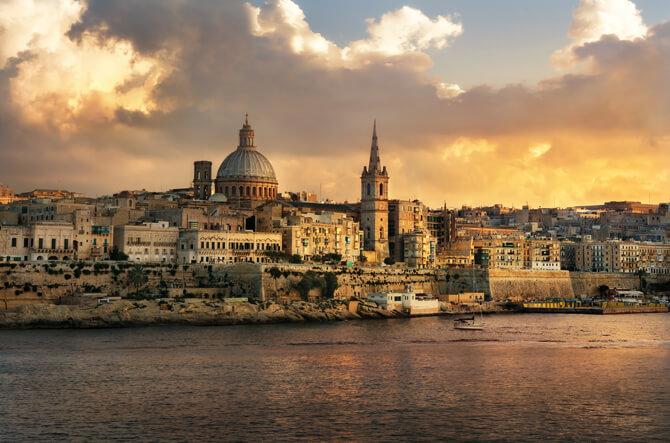 Malta Valetta Stadtmauer