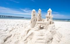 Panama Strand Schloss