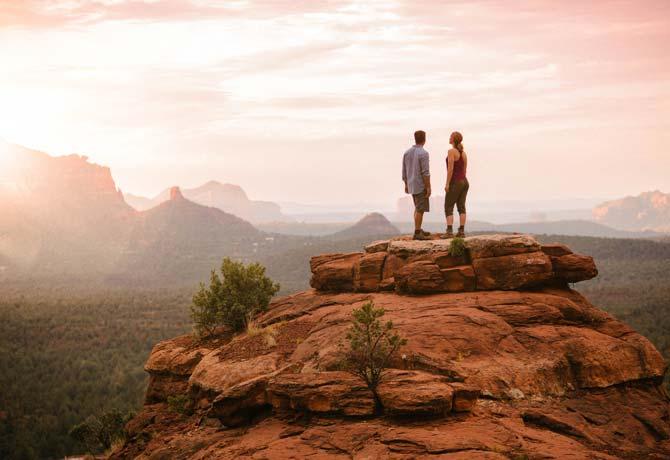 Sedona Rocks mit Blick vom Enchantment Resort