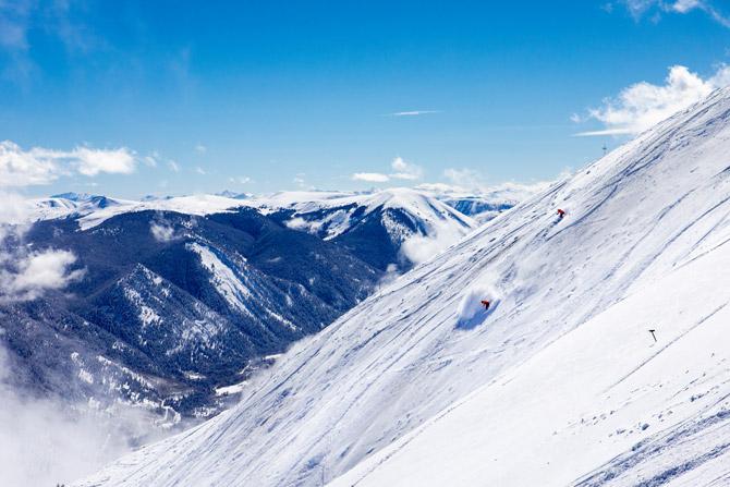 Aspen Snowmass Ski Abfahrt