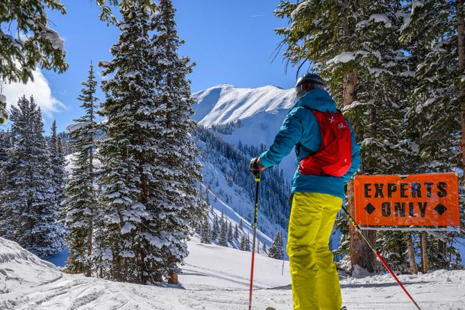 Expert Only Abfahrt Aspen Snowmass