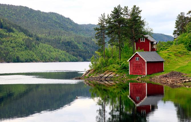 Schweden Haus am See