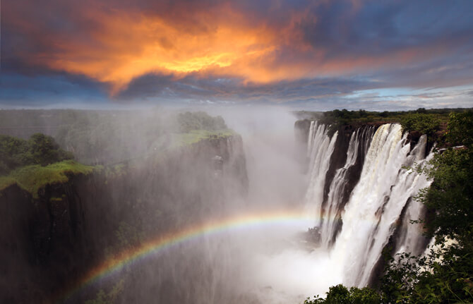Viktoriafälle Zambia Afrika