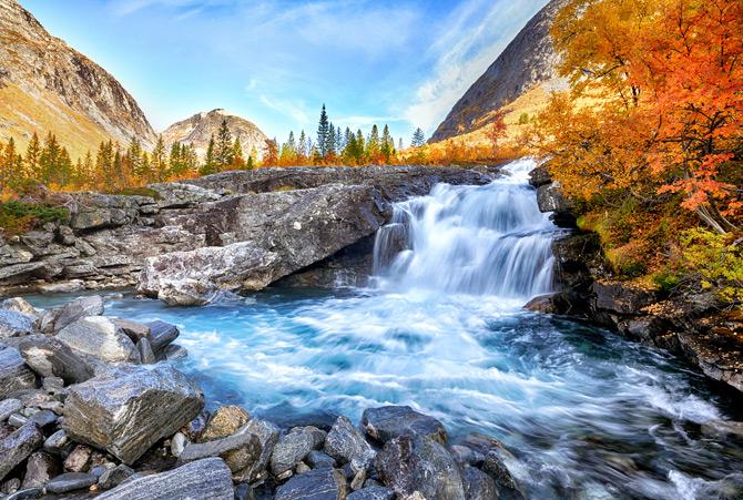 Wasserfälle in Schweden