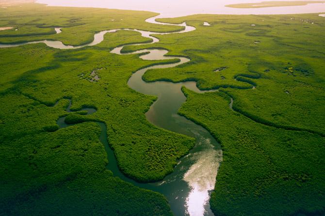 Gambia Flüsse und Güntäler
