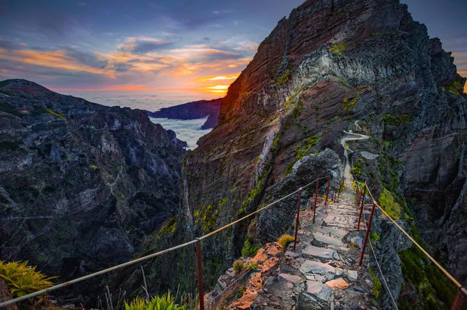 Wanderweg zwischen Pico do Arieiro und Pico do Ruivo