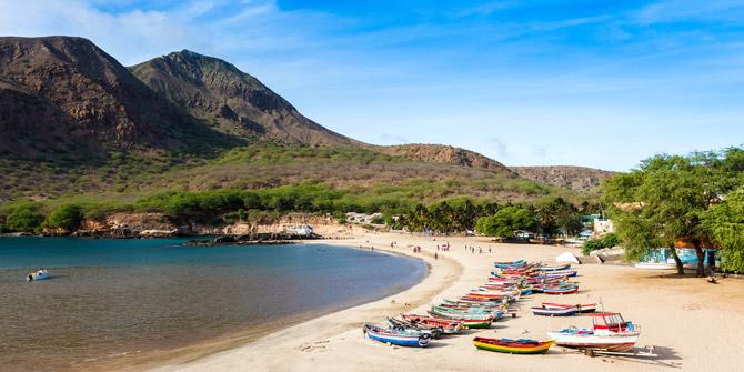 Kap Verden Beach und Berge
