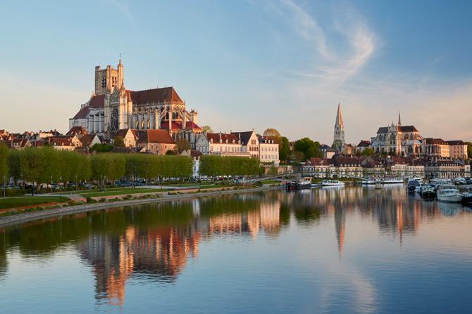 Sonnenaufgang in Auxerre