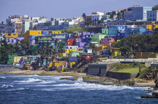 San Juan vom Meer aus