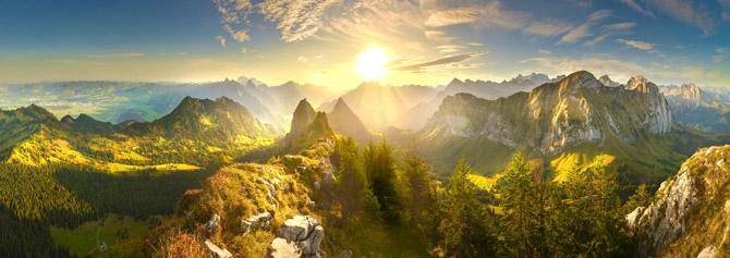 Schweiz Ausblick auf die Berge