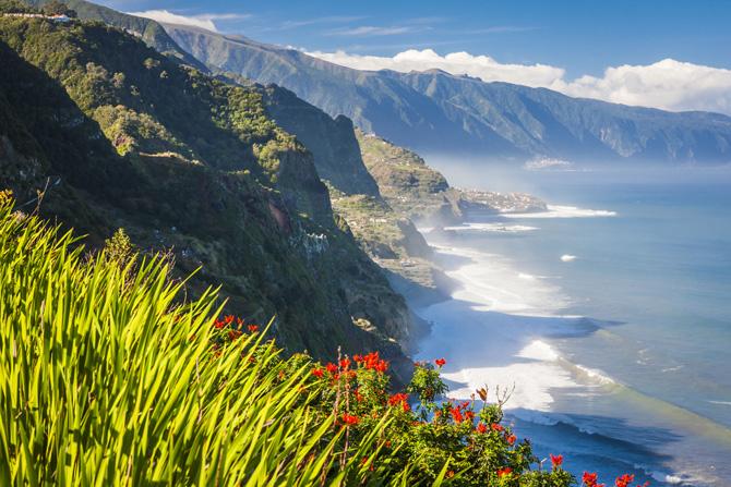 Die Nordküste Madeiras bei Boaventura