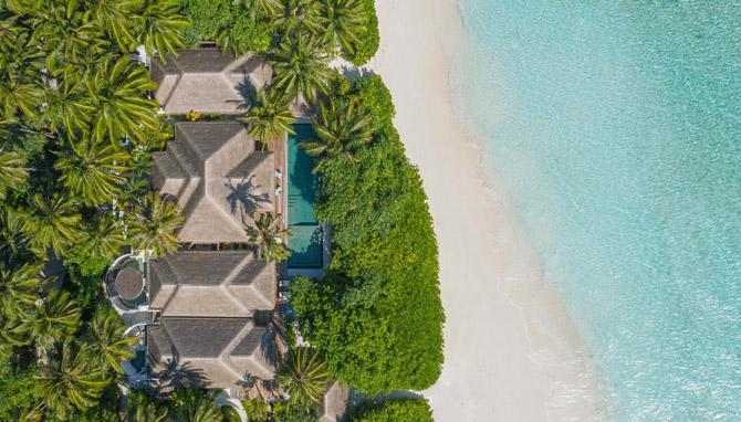 Anantara Kihavah Exterior View Three Bedroom Beach Pool Residence
