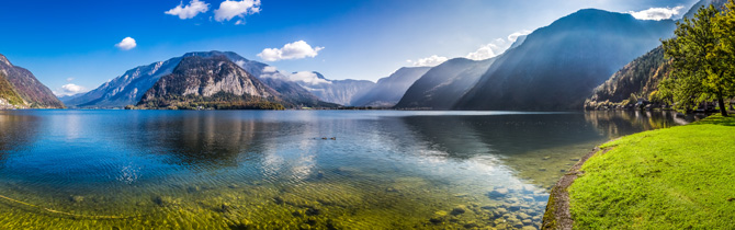 Bergsee Panorama in Österreich