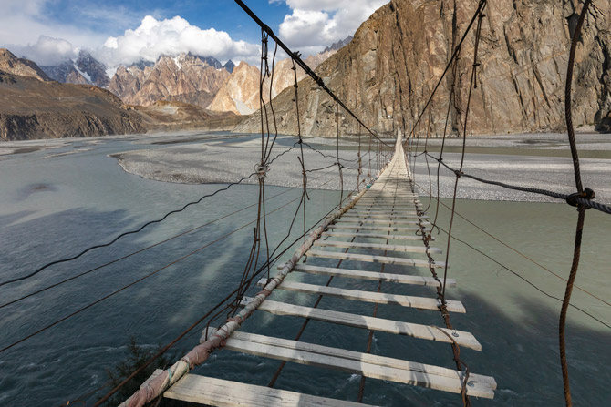 Hussaini Brücke in Pakistan