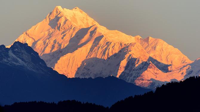 Der Berg Kangchenjunga