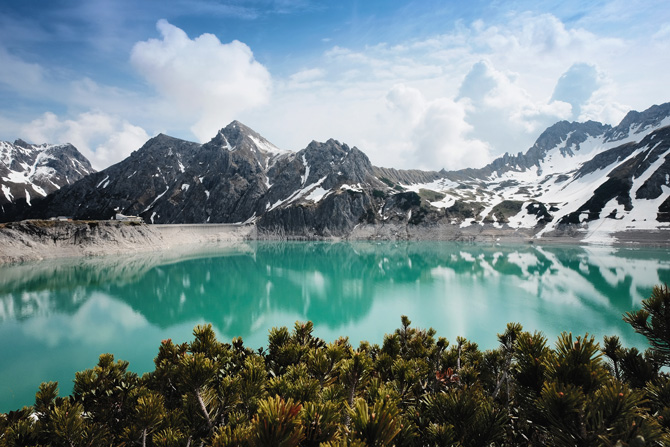 Lünersee in Österreich