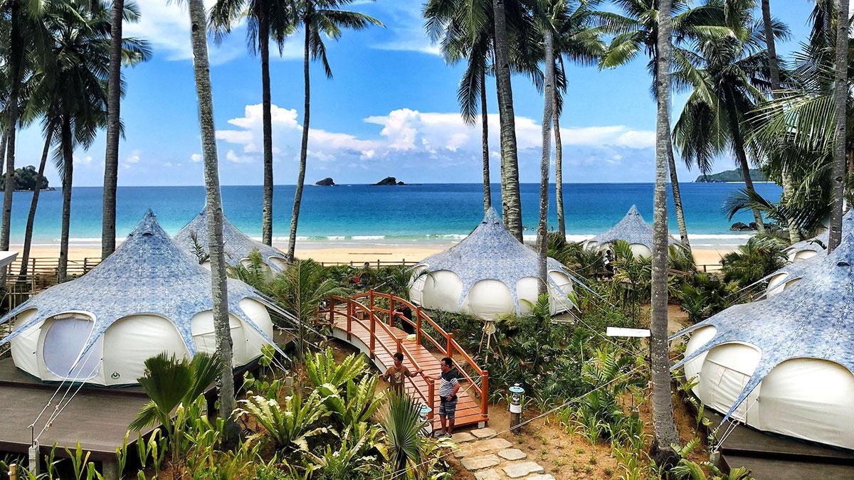 Nacpan Beach Glamping Philippinen