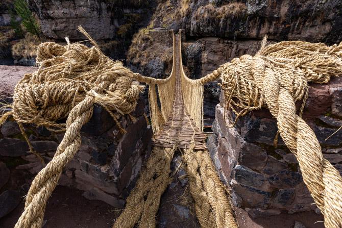 Q'eswachaka Brücke in Peru