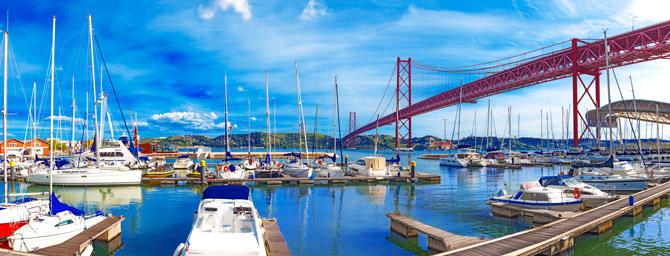 Der Hafen von Lissabon