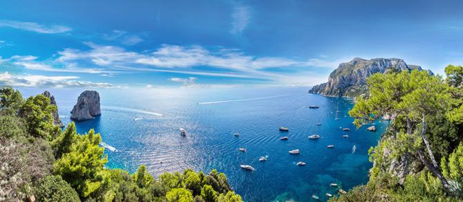 Capri mit dem Horizont