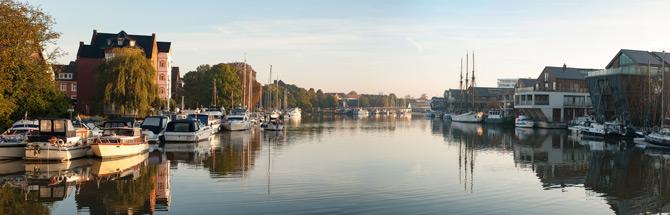 Die Stadt Leer in Ostfriesland