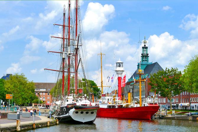 Die Stadt Emden in Ostfriesland