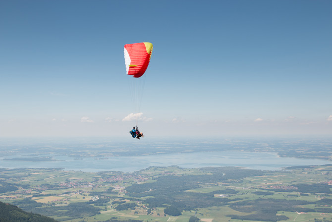 Parasailing am Chiemsee