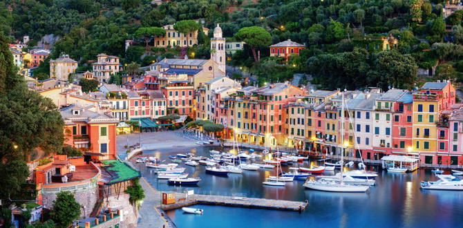 Portofino Panorama Vogelperspektive