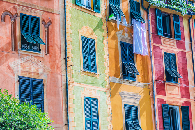 Bunte Häuserwände in Portofino