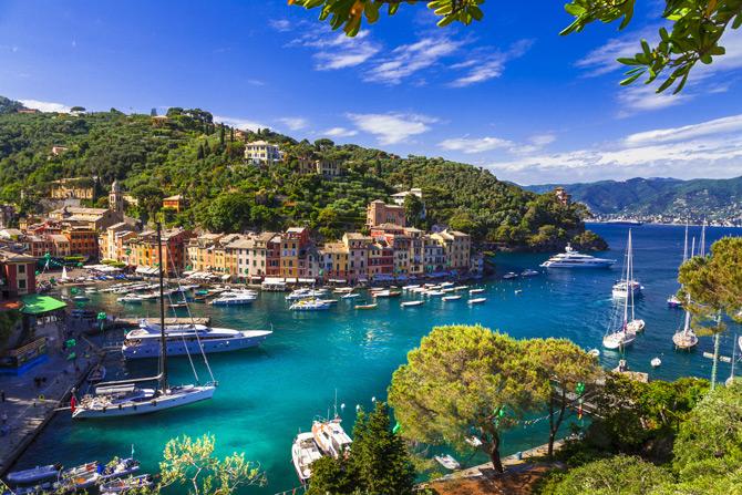 Portofino mit Yachten