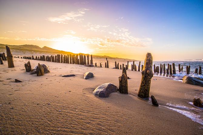 Strand auf Sylt beim Sonnenuntergang