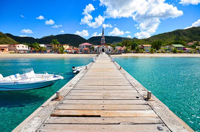 Martinique Steg und Strand
