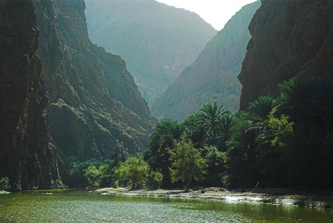 Oman; Wadi Tiwi Canyon